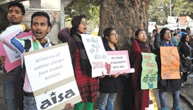 Protests snowball over JNU sedition row