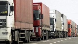 Ukraine bans transit of trucks from Russia in trade war