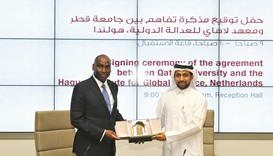 QU, Hague Institute sign partnership pact