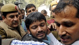 Fighting breaks out at Indian court hearing sedition case