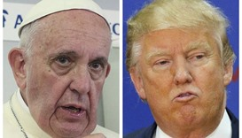 Pope says Trump 'not Christian', Trump calls comment 'disgraceful'