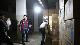 Syria aid by Red Crescent