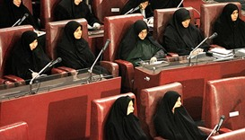 Iran's women MPs face uphill battle for gender parity