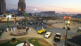 An overview of the festival venue at Katara