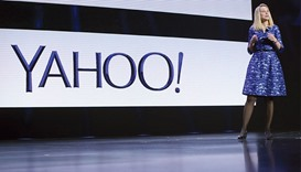 Yahoo CEO Marissa Mayer speaks during her keynote address at the annual Consumer Electronics Show (C