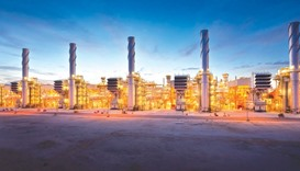 Dolphin Energy's Ras Laffan plant. The Dolphin Gas Project achieved full throughput in February 2008