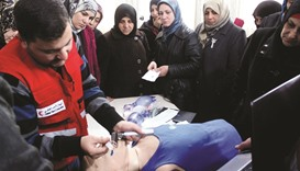 QRCS personnel trained on neonatal resuscitation skills