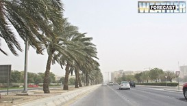 Dusty winds likely in Qatar on Tuesday