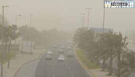weather- wind and dust