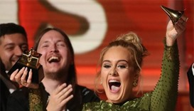 Adele sweeps Grammys in shock victory over Beyonce