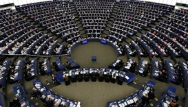 MEPs take part in a voting session on the CETA between the EU and Canada