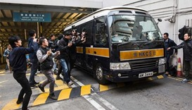 Seven Hong Kong policemen jailed for assault on activist