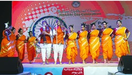 Artistes presenting a cultural performance. PICTURE: Jayaram.
