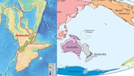 An illustration shows what geologists are calling Zealandia