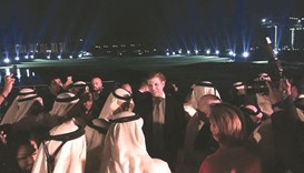 US President Donald Trump's son Eric Trump attends the opening ceremony of the golf club in Dubai.