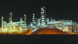 A night view of the QR5.5bn Laffan Refinery 2