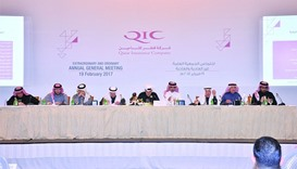 Al-Attiya and other board members addressing the shareholders at the AGM. QIC would continue to maxi