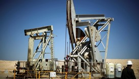 Pump jacks drill for oil in the Monterey Shale, California, US