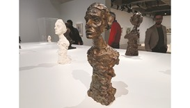Giacometti's Annette (Circa 1952) and other sculptures.