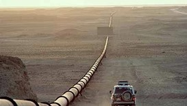 An oil pipeline in Kirkuk.
