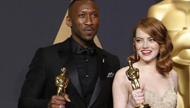 Best Supporting Actor Mahershala Ali, for Moonlight and Best Actress Emma Stone for La La Land
