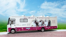 A mobile cancer screening unit, Qatar