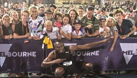 Bolt leads his All-Stars to win in Nitro meet