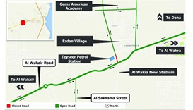 Temporary diversion in Wukair area from Wednesday