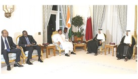 Emir holds talks with Niger president