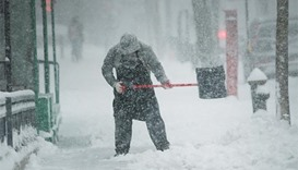 Flights cancelled as heavy snowstorm hits US northeast
