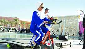 Sheikha Moza leads Sport Day events at Qatar Foundation