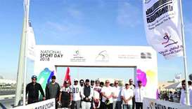 Ashghal staff take to new cycling tracks on roads