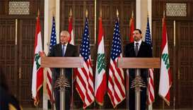 Tillerson says Hezbollah actions threaten Lebanon, region