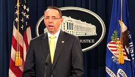 Deputy U.S. Attorney General Rosenstein announces indictments of Russians in 2016 U.S. election medd