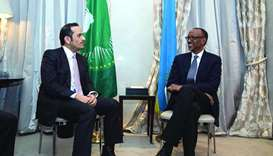 HE the Deputy Prime Minister and Foreign Minister Sheikh Mohamed bin Abdulrahman al-Thani and Rwanda