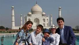Trudeau opens India tour with 'special' visit to Taj Mahal