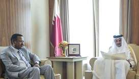Emir receives written message from Sudanese President