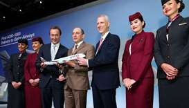 Qatar Airways takes delivery of the world's first Airbus A350-1000