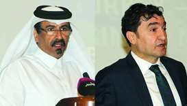 Qatar Chamber vice chairman Mohamed bin Towar al-Kuwari and TIM board member Ahmet Gulec. PICTURE: O