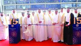 HE the Minister of Economy and Commerce Sheikh Ahmed bin Jassim bin Mohamed al-Thani inaugurating th