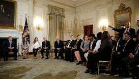 U.S. President Donald Trump hosts a listening session with Marjory Stoneman Douglas High School shoo