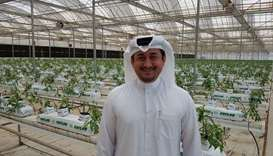 Nasser Ahmed al-Khalaf at his farm.
