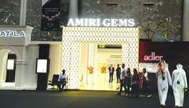 The Amiri Gem's pavilion at the exhibition hosts several prominent jewellery and watches brands.