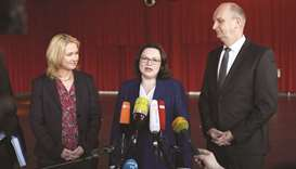 (From left) Mecklenburg Western-Pomerania's State Premier and politician of the Social Democratic Pa