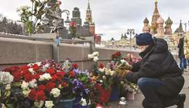 Russians march for murdered hero Nemtsov