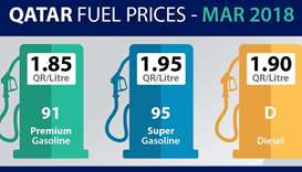 Gasoline super, diesel to cost more in March