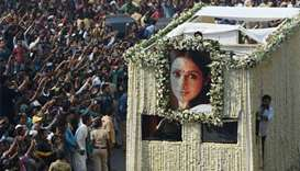 Thousands of fans, Bollywood actors bid farewell to Sridevi