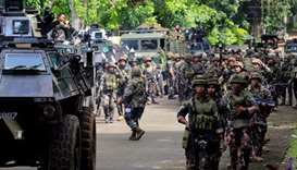 Philippine security forces in the country's southern region