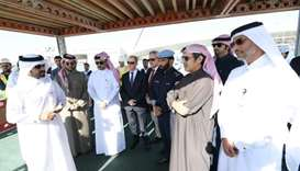Ashghal and Directorate of Traffic officials at the opening of the Bani Hajer underpass.