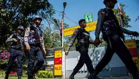 Myanmar police nab suspect for bomb tossed at Suu Kyi's home